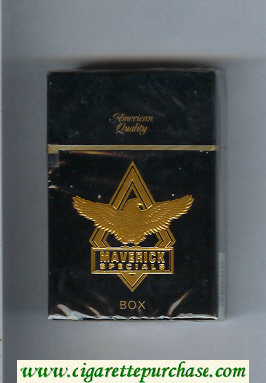 Discount Maverick Specials black and gold cigarettes hard box