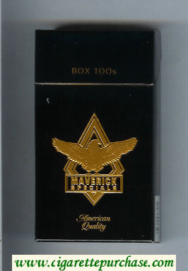 Discount Maverick Specials Box 100s black and gold cigarettes hard box