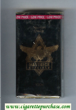 Discount Maverick Specials 100s black and gold cigarettes soft box