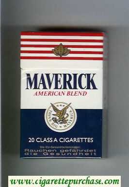 Discount Maverick American Blend cigarettes hard box