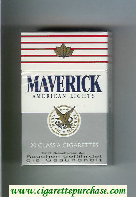 Discount Maverick American Lights cigarettes hard box