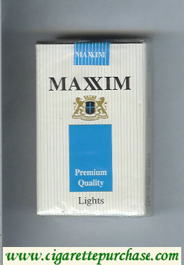 Maxim Premium Quality Lights cigarettes soft box