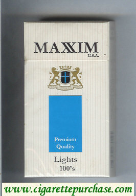 Maxim USA Premium Quality Lights 100s cigarettes hard box