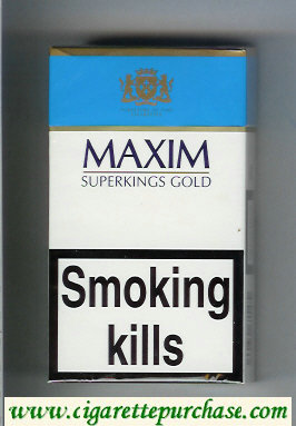 Maxim Gold 100s cigarettes hard box