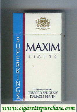 Maxim Lights 100s cigarettes hard box