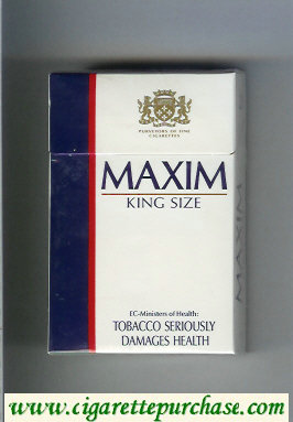 Maxim cigarettes hard box
