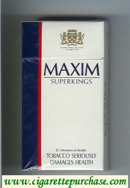 Maxim Super Kings 100s cigarettes hard box