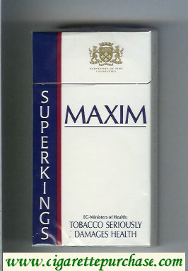 Maxim cigarettes Super Kings 100s hard box