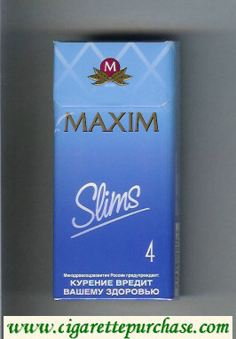 Maxim Slims 4 100s cigarettes hard box