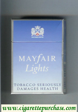 Mayfair Lights cigarettes hard box