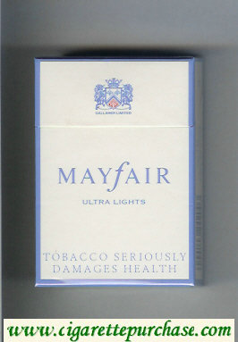Mayfair Ultra Lights cigarettes hard box
