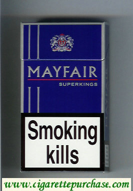 Mayfair Super Kings 100s cigarettes hard box