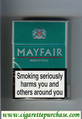 Mayfair Menthol cigarettes hard box