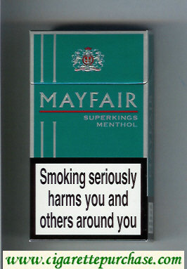 Mayfair Super Kings Menthol 100s cigarettes hard box