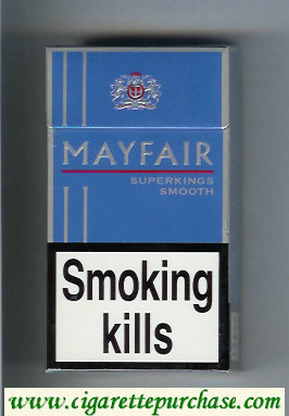 Discount Mayfair Super Kings Smooth 100s cigarettes hard box