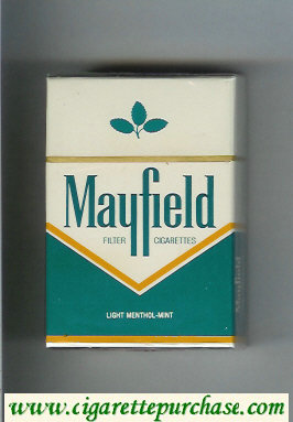 Mayfield Light Menthol - Mint Filter cigarettes hard box