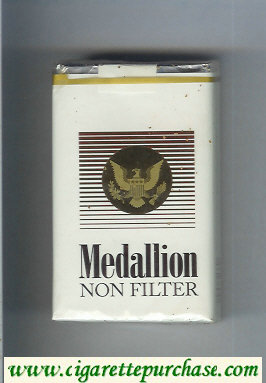 Medallion Non Filter cigarettes soft box
