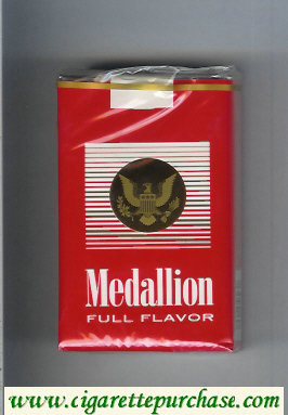 Medallion Full Flavor cigarettes soft box
