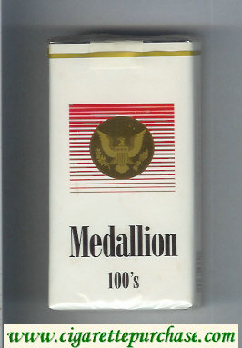 Medallion 100s cigarettes soft box