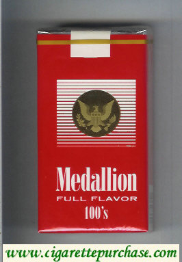 Medallion Full Flavor 100s cigarettes soft box