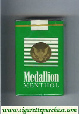 Medallion Menthol green cigarettes soft box