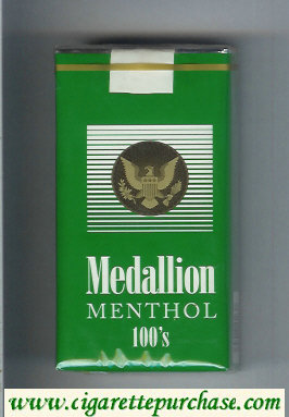Medallion Menthol 100s green cigarettes soft box