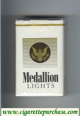 Medallion Lights cigarettes soft box