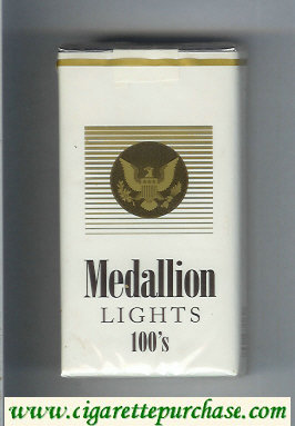 Medallion Lights 100s cigarettes soft box