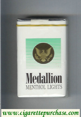 Medallion Menthol Lights cigarettes soft box