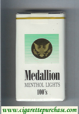 Medallion Menthol Lights 100s cigarettes soft box