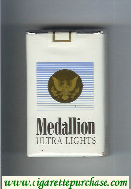 Medallion Ultra Lights cigarettes soft box