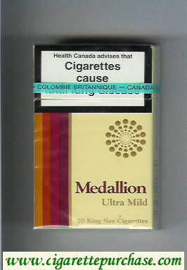 Medallion Ultra Mild cigarettes hard box