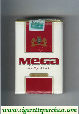 Mega King Size cigarettes soft box