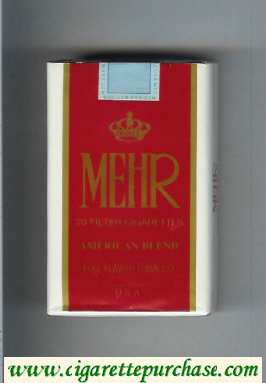 Mehr American Blend Full Flavor Tobacco cigarettes soft box