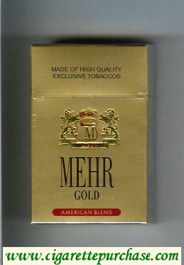 Mehr Gold American Blend cigarettes hard box