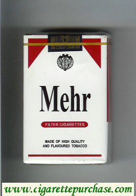 Mehr white and red cigarettes soft box