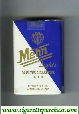 Mehr Lights American Blend white and blue cigarettes soft box
