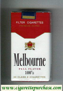 Melbourne Full Flavor 100s Premium Blend cigarettes soft box