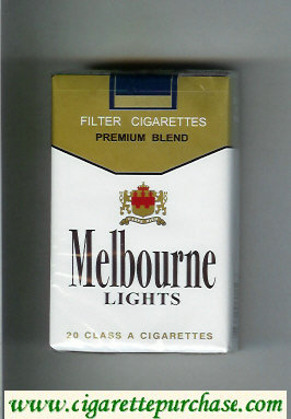 Melbourne Lights Premium Blend cigarettes soft box