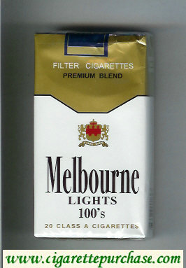 Melbourne Lights 100s Premium Blend cigarettes soft box