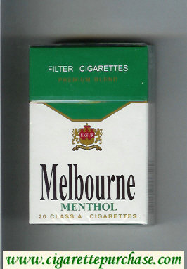 Melbourne Menthol Premium Blend cigarettes hard box