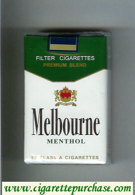 Melbourne Menthol Premium Blend cigarettes soft box