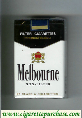 Melbourne Non-Filter Premium Blend cigarettes soft box