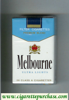Melbourne Ultra Lights Premium Blend cigarettes soft box