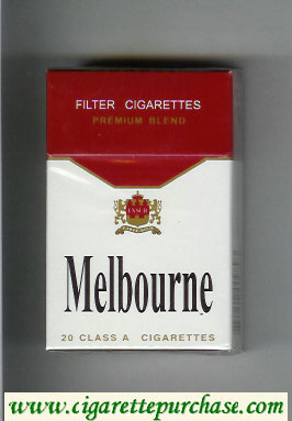 Melbourne Premium Blend cigarettes hard box