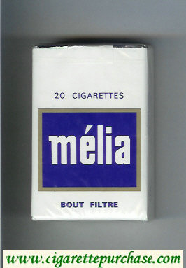 Melia Bout Filtre 20 cigarettes soft box