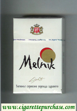 Melnik Lights cigarettes hard box