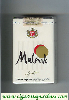 Melnik Lights cigarettes soft box
