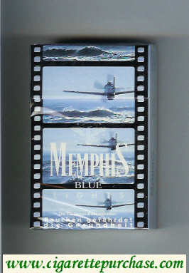 Memphis Blue Lights cigarettes hard box