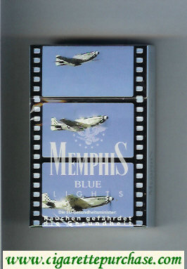 Memphis hard box Blue Lights cigarettes